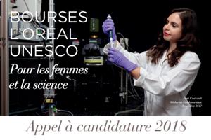 Bourses France L'Oréal-UNESCO «Pour les Femmes et la Science» 2018