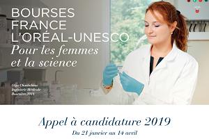 Bourses France L'Oréal-UNESCO «Pour les Femmes et la Science» 2019